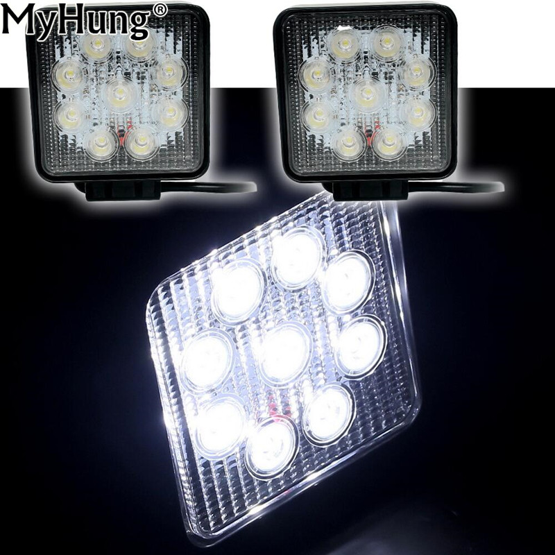 Car LED 27W Work Light Flood Combo Beam For Truck Trailer SUV LED Waterproof Housing Lamp Work Driving Light 2pcs Car-Styling фурминатор для собак furminator для короткошерстных карманных 3см