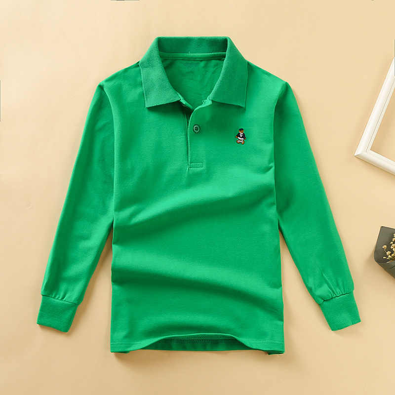 2018 Spring Autumn Children's Polo Shirts Long Sleeve Striped Kids Boys Cotton Lapel Polo Shirt for Child 2-12 Years Boy Clothes