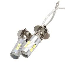 2 piezas H3 bombilla Led de niebla del coche luces de alta potencia de la lámpara 5630 SMD diurna Auto Led aparcamiento bombillas de coche la luz 12 V 6000 K blanco