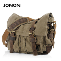 JONON New Arrival Men S Canvas Bags Vintage Briefcase Men S Messenger Bags Vintage Cross Body
