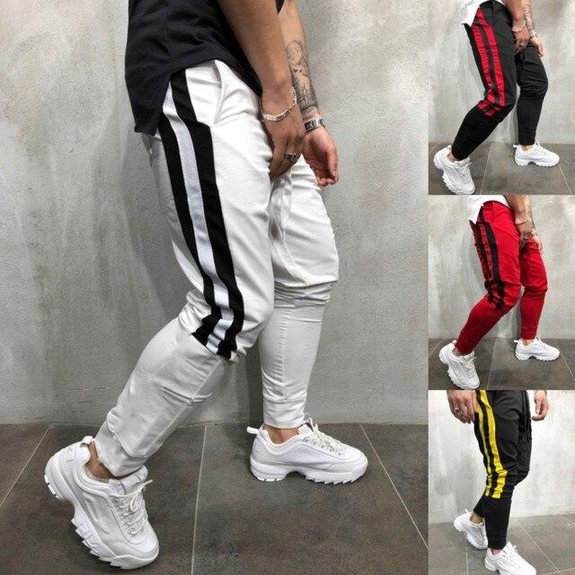 2019 printemps Hip Hop décontracté survêtement pantalon mode Streetwear pantalon couleur bloc Patchwork Harem pantalon Joggers hommes