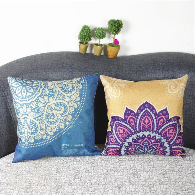 Western Style Retro Floral Cushion Cover Decorative Cushion Covers For Sofa Throw Pillow Car Chair Home