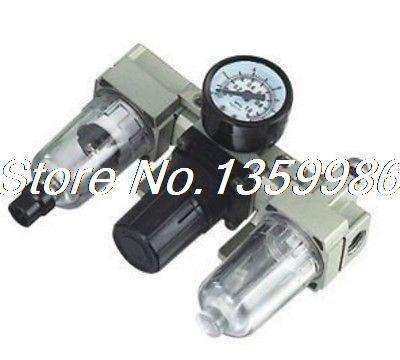 1pcs SMC Type Filter Regulator Lubricator Gauge M5x0.8 BSP 90 L/min Auto drain bomiko auto l