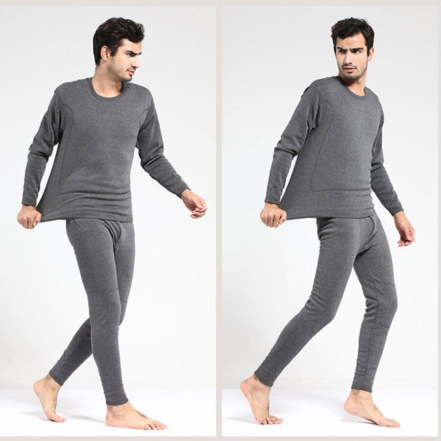 469858778 Men Women Winter Plus Velvet Outer Inner Wear Thermal Warm Long ...