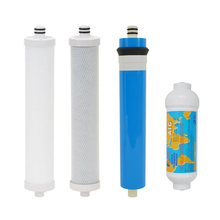 Culligan AC-30 Reverse Osmosis System Compatible Replacement Cartridge & Membrane 4 PCS with 3/8 adapter for Polishing Filters