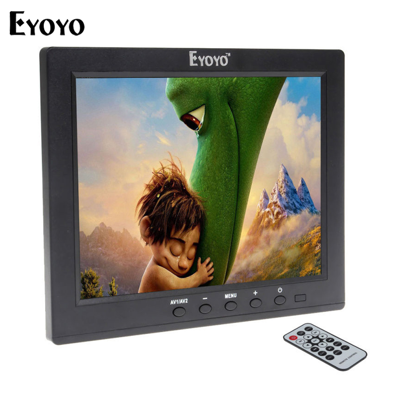 Eyoyo 8 Inch IPS LCD HD Monitor HDMl VGA BNC Security Monitor Video Audio USB Interface for MP5 DVR PC CCTV with Remote Control