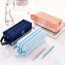 Double Zipper Large Pencil Case Kawaii School Pencilcase Pen Bag Box for Girls Gifts Cute Stationery Supplies