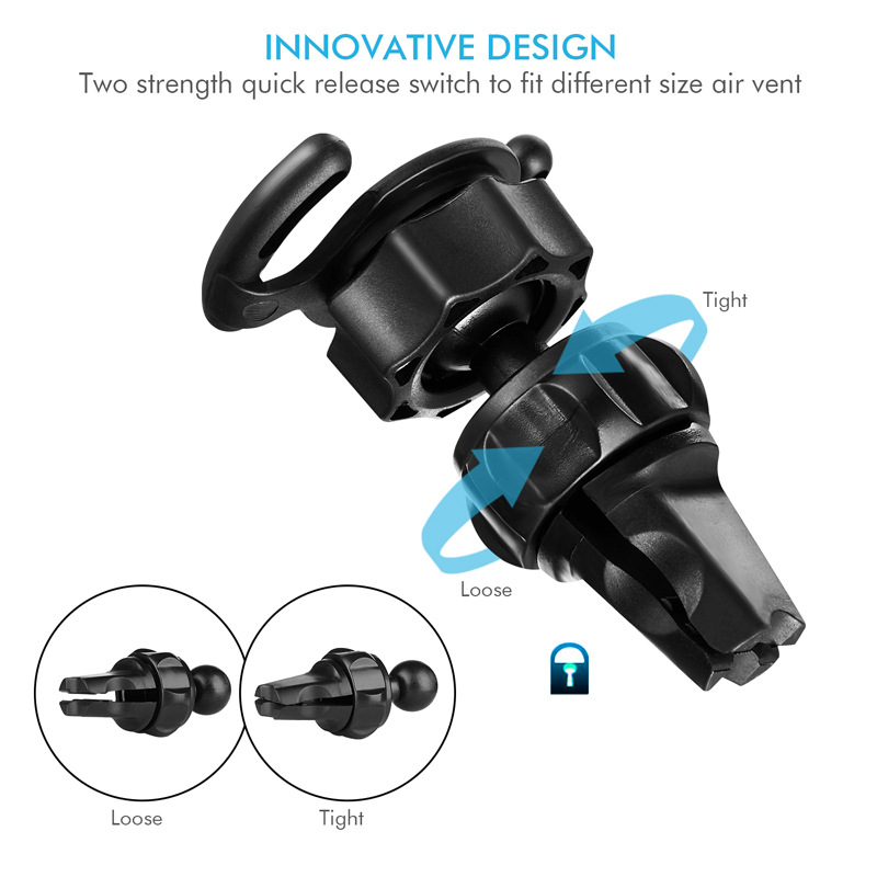 JXSFLYE 360 degree Fashion Mobile Phone Holder Universal Smartphone Bracket Vehicle Navigation Rack Outlet Smartphone Support in Phone Holders Stands from Cellphones Telecommunications
