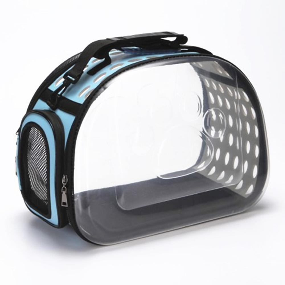Pet Cat Dog Carrier Transparent Foldable Breathable Pets Outdoor Kennel Travel Shoulder Bag For Small Dogs Puppy Kittens Bags