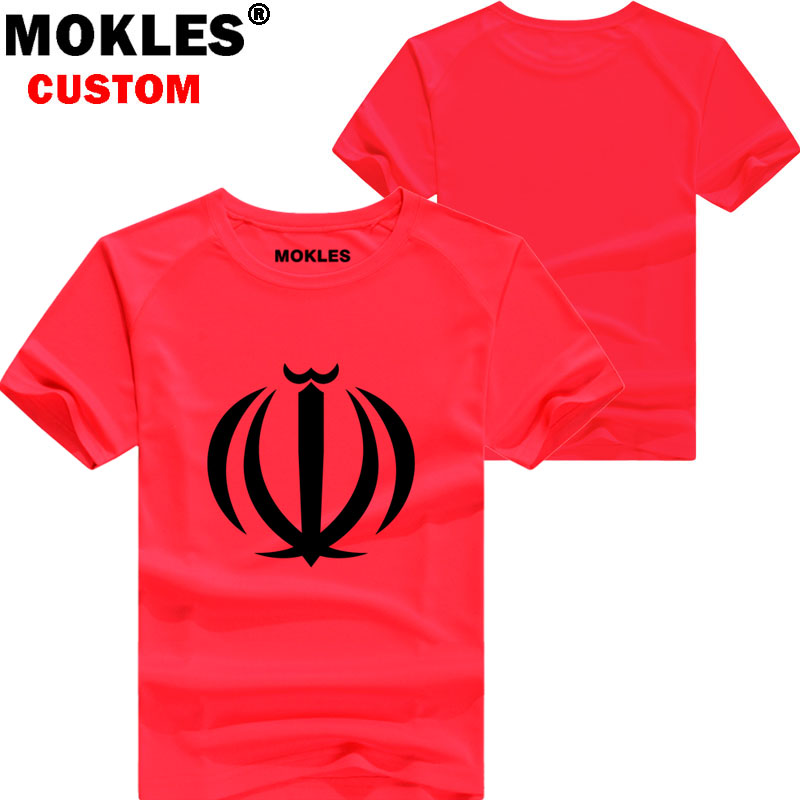 IRAN t shirt diy free custom made name number irn t-shirt nation flag country republic islam persian college print photo clothes