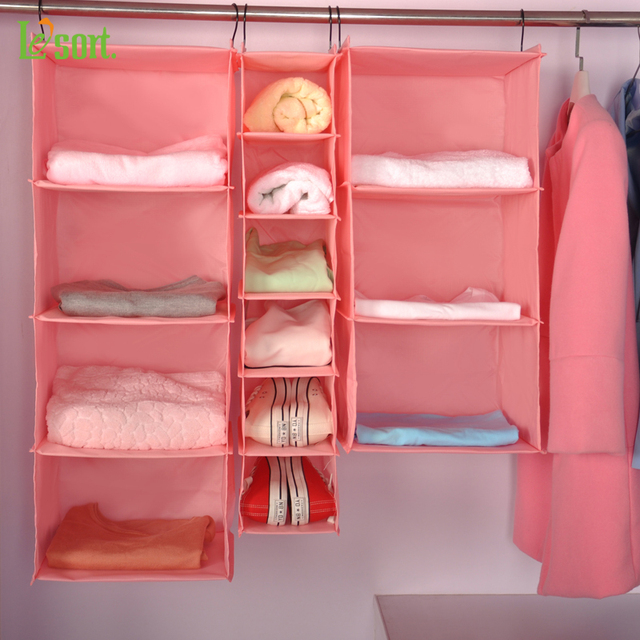 Lesort Home Hanging Clothes Storage Box (Muti Shelving Units) Durable  Organizing Shelves Eco