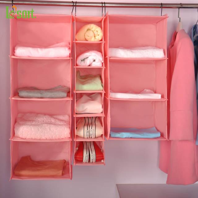 Lesort Home Hanging Clothes Storage Box Muti Shelving Units Durable Organizing Shelves Eco