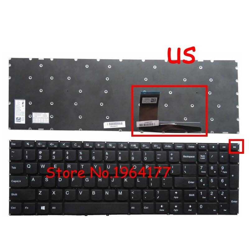 New English Laptop Keyboard For Lenovo IdeaPad Yoga 510-15IKB Yoga 510-15ISK 310-15ISK Keyboard US Black No Frame