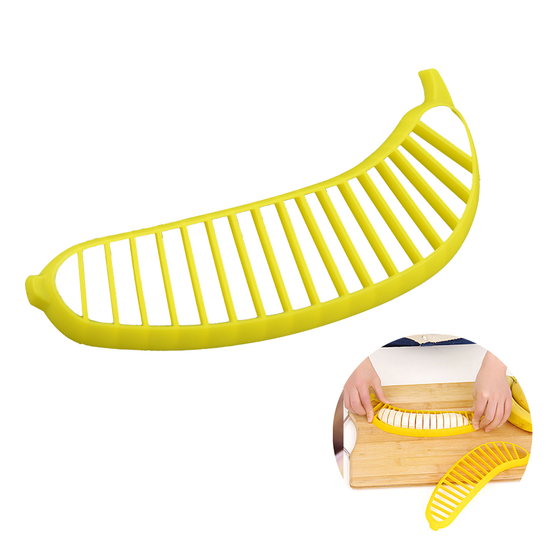1 Pcs Creative Plastic Banana Slicers Fruit Vegetable Shredders Salad Cucumber Tool Cutter Chopper Practical Kitchen Accessories