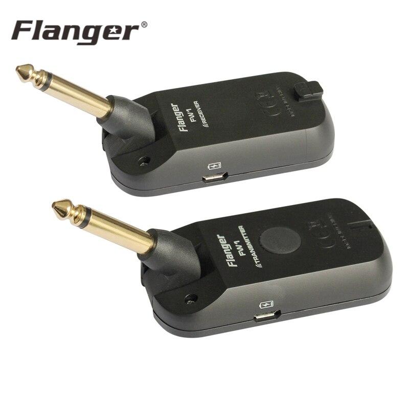 Flanger FW1 2.4 HZ Guitare Système Sans Fil Rechargeable Pour Guitare Basse Audio Émetteur Récepteur Compagnon pour Musicien