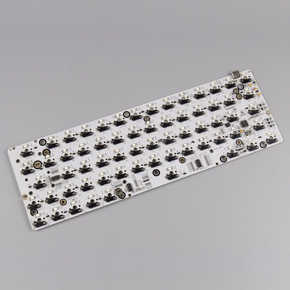 KBDfans New Arrival GK64 Pcb RGB 60% 64KEYS HOT SWAP PCB Diy  Mechanical Keyboard Hotswap Socket