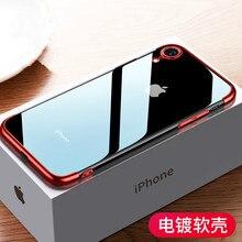 Sumgo yumuşak TPU iphone için kılıf X Xr Xs Max kılıfları ultra ince şeffaf kaplama parlayan iphone için kılıf Xs Karışık silikon kapak