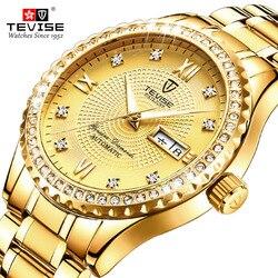 TEVISE automatyczny męski zegarek mechaniczny wodoodporna data automatyczny zegarek dla mężczyzn Relogio Masculino mężczyźni sport zegarek zegarki na rękę