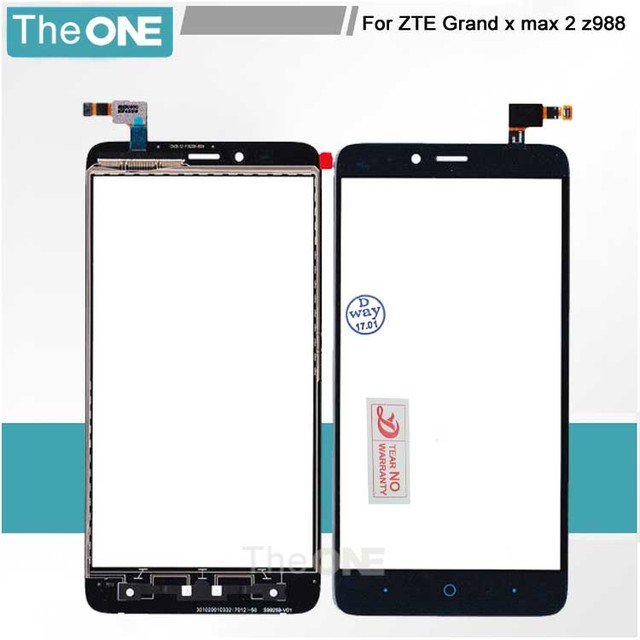 """Black Blue TP for ZTE Grand X Max 2 Z988 LTE 6.0"""" Touch Screen Digitizer Glass Panel No LCD Replace Part Free Shipping"""