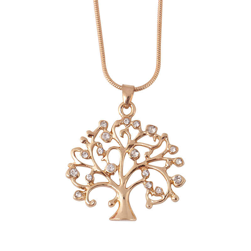 Tree Of Life Pendant Necklace Women Jewelry Fashion 2019 Crystal Rose Gold Statement Necklaces & Pendants Christmas Gifts Bijoux