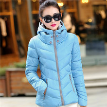2017 Women's Down Wadded Jacket Hooded Parka Winter Jacket Women Short Cotton Padded Jacket Coats Ukraine Plus Size 4XL C1728