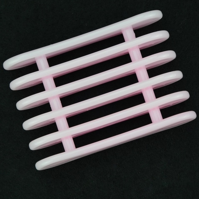 Pink Plastic Brush Holder