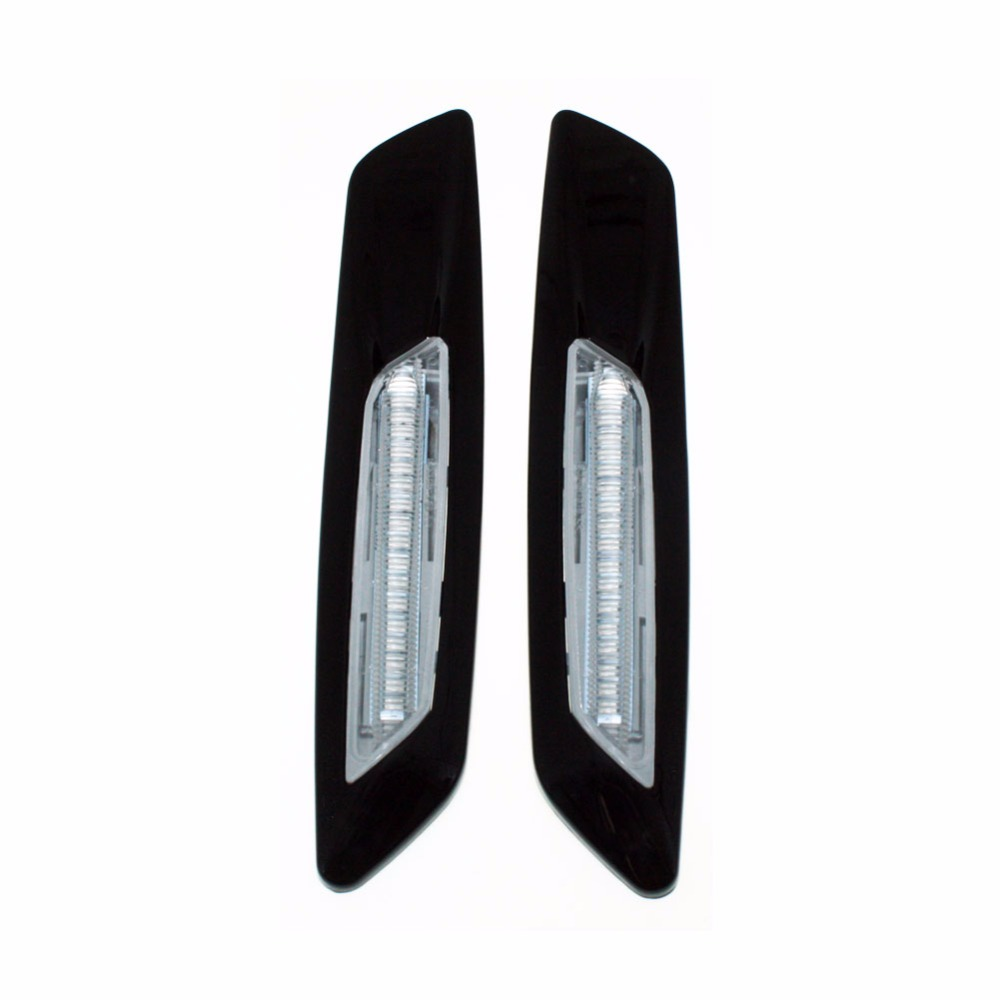 for BMW E60 E82 E87 E88 E90 E91 E92 E93 Car Black Trim LED Fender Side Marker Light Turn ...