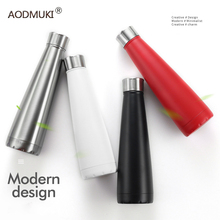 AODMUKI 16OZ thermos Tea Vacuum Protein Shaker Bottle With stainless Steel 304 Thermo Coffee Mug Water Insulated