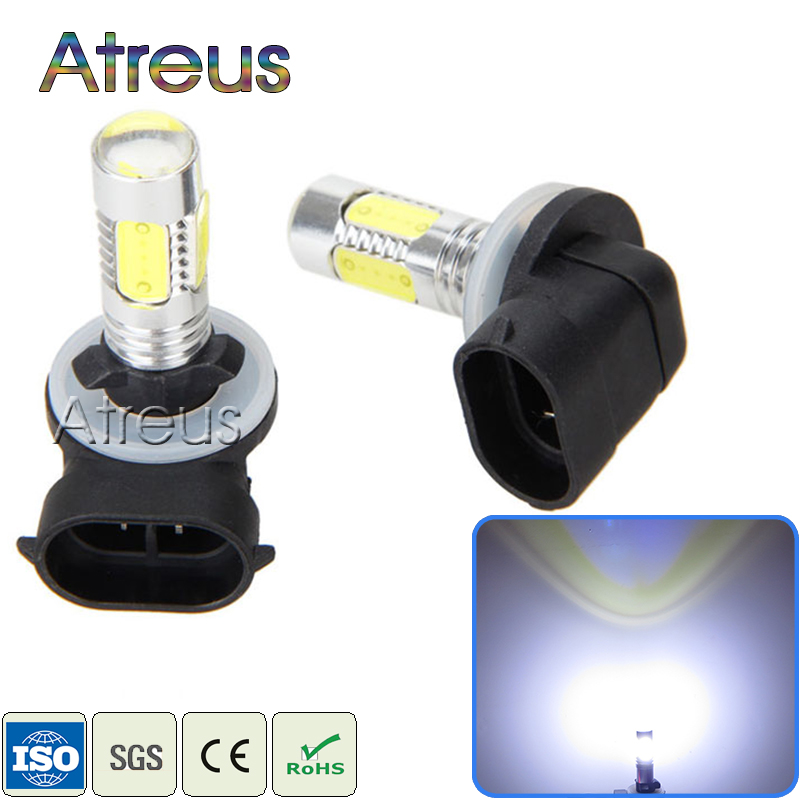 2Pcs Car LED 881 H27 7.5W High Power Auto Car Driving Fog Lights 12V White LED Lamp Bulb with Lens Automobiles DRL accessories
