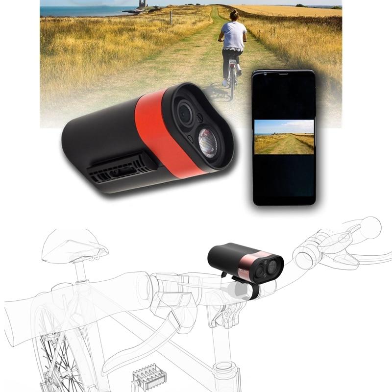 HD 1080P велосипедная фара для верховой езды, рекордер для вождения, профессиональный шлем DVR, свет, Wifi экшн камера, MTB дорожный велосипед, передн... - 5