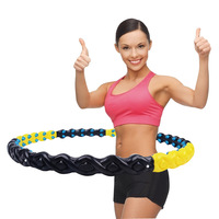 Hula Hoop Thin Waist Ladies Adult Child Fitness Slimming Ring Removable Increased Belly Magnet Hoop