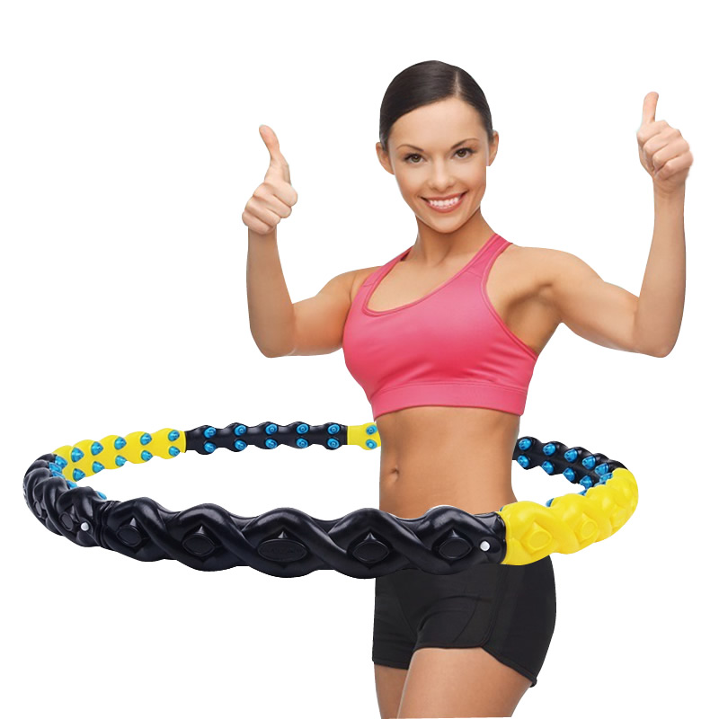 Hula Hoop Thin Waist Ladies Adult Child Fitness Slimming Ring Removable Increased Belly Magnet Hoop