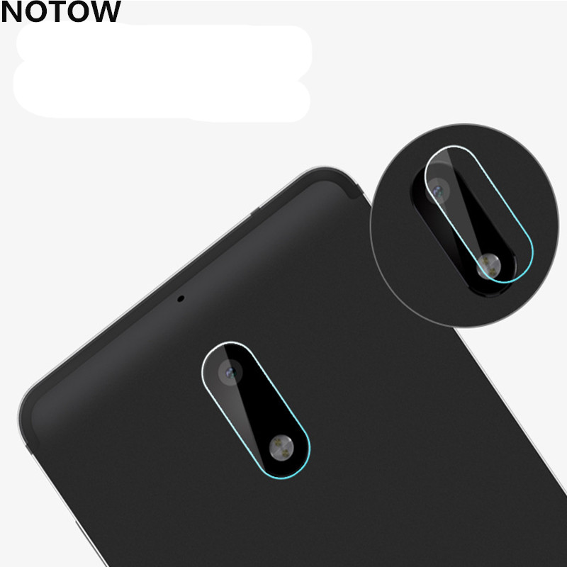NOTOW 3Pcs/lot flexible Rear Transparent Back Camera Lens Tempered Glass Film Protector Case For Nokia 6/7plus/X6