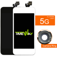 AAA Quality LCD Screen Display Digitizer Assembly For IPhone 5 LCD Display Black White All Parts