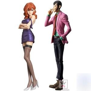 26cm Japanese original anime figure Lupin III Rupan Sansei Mine Fujiko/Lupin action figure collectible model toys for boys(China)