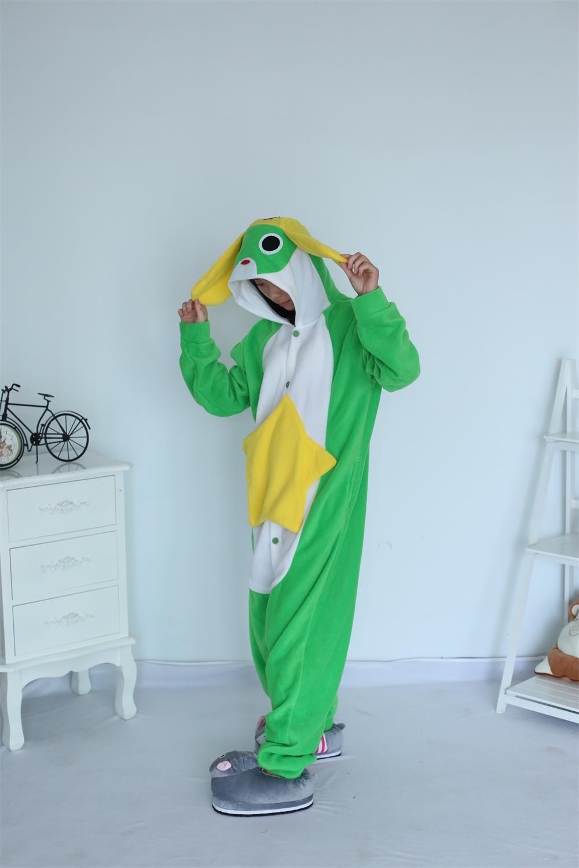 Pajamas Onesie Adult Frog Cartoon Animal Cosplay Sleepsuit for Unisex