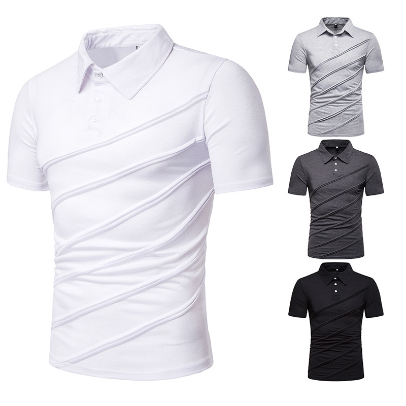 Solid Color Men   Polo   Shirt Creative Classic Male   Polo   Shirts Turn-Down Collar   Polo   Shirts Man Short Sleeve