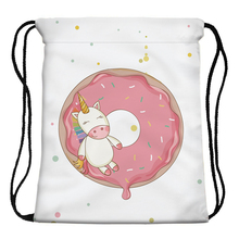 Unicorn and Donut Printed Bag