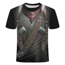 New Cloudstyle Own Design Mens tshirt 3D Gun Warrior Tshirt Print Knife Harajuku Tops Tee Short Sleeve Fitness t-shirtshirt 6xl