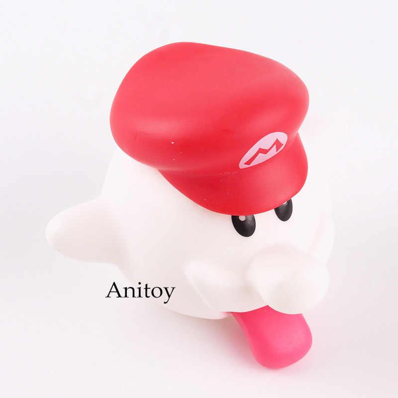 Figuras Super Mario Bros Boo Fantasma Branco Mini PVC Action Figure Collectible Toy Modelo for Kids Presente 6 cm