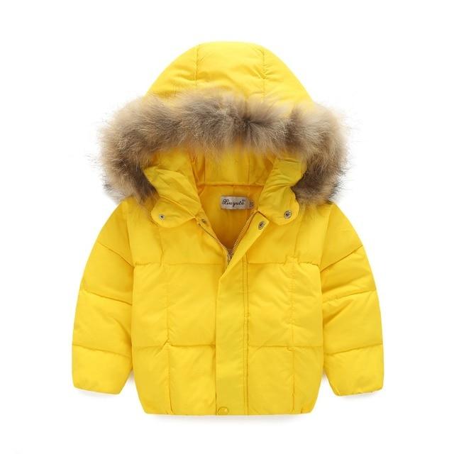 2016 new men and women hair collar white duck down jacket thicker coat men and women warm short paragraph HT126