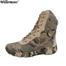 5c9f6af970f Al aire libre del camuflaje de los hombres High Top fuerza especial del  ejército combate Botas hombres invierno Militar táctico .