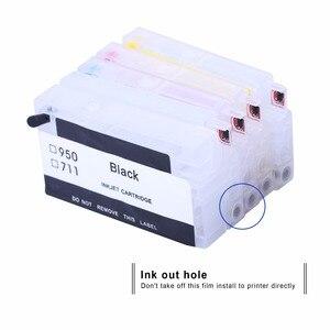 Image 5 - INKARENA Compatible Cartridge Replacement For HP 711 XL Refillable Inkjet Cartridge Reset Chip Deskjet T520 T120 Printer