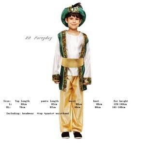 Image 2 - Bambini Ragazzi Arabo Principe Cosplay Ragazzo Aladdin Principe costume di halloween per i bambini di Carnevale Festa di Compleanno Di Natale