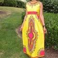 2016 Real Regular Plus Size Maxi Dress New African Dashiki Dress Swag Tribal Print Ethnic Women Gypsy Long Traditional Clothing