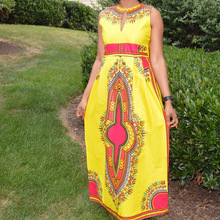Vestidos De Fiesta Plus Size Maxi Dress New African Dashiki Swag Tribal Print Ethnic Women Gypsy