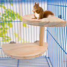 Hot Sale Pet Hamster Semi-circular Board Totoro Squirrel Mouse Pedal Double Layer Combination Cage Pedal