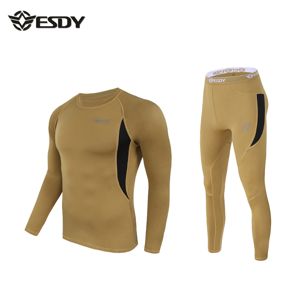 winter Top quality new thermal underwear men underwear sets compression fleece sweat quick drying thermo underwear men clothing