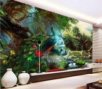 custom wallpaper peacock 3D photo wall mural wallpaper bedroom living room wallpaper for walls 3 d papel de parede