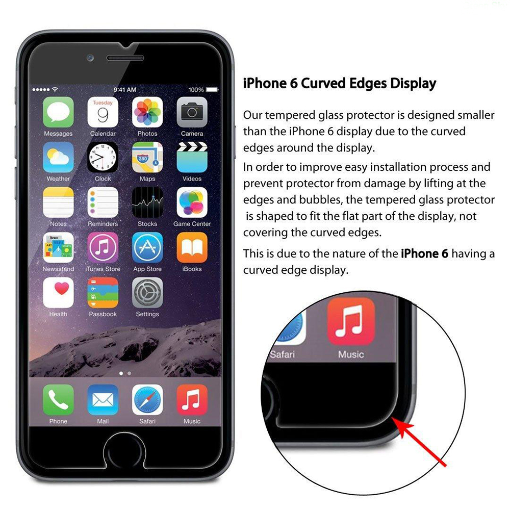 Premium Real Tempered Glass Film For Alppe iPhone S S S Plus